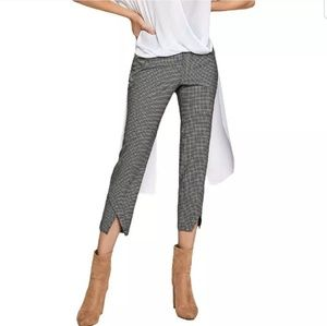 BNWT BCBG cropped pants, size 4, black/white grid